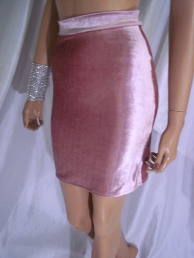 wedding photo - Pink Velvet Mini Skirt, Sexy Skirt, Sexy Clothes, Pink Stretch Knit Skirt, Velvet Apparel, Beautiful Short Skirt, Clingy Skirt, Shiny Skirt