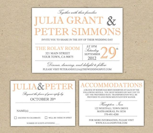 modern wedding invitation template  printable diy wedding, wedding cards