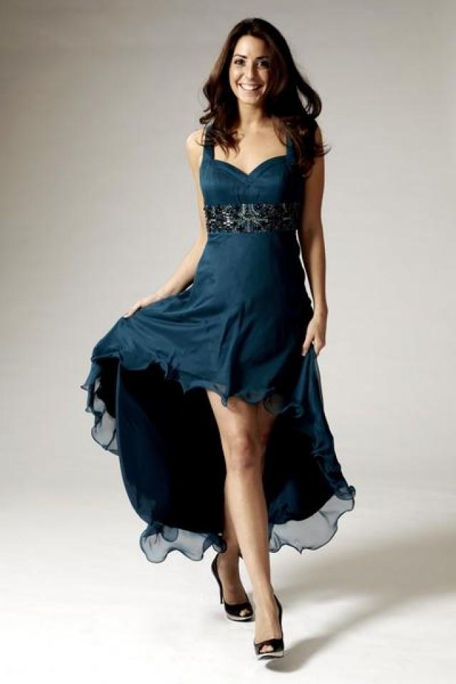 beaded asym front maxi evening dress 2436577 weddbook