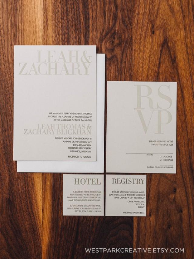 Wedding invitation modern wedding antique gray wedding for Modern wedding invitations free samples