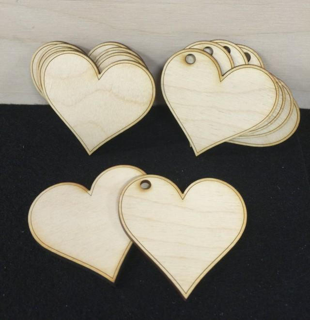 25 wooden hearts wood heart decor 2 5 inch gift favor for Wooden heart wall decor