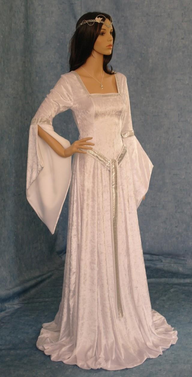 Elven Dress Celtic Wedding Dress Girdle Belt Medieval Dress Renaissance Dress Elven Wedding