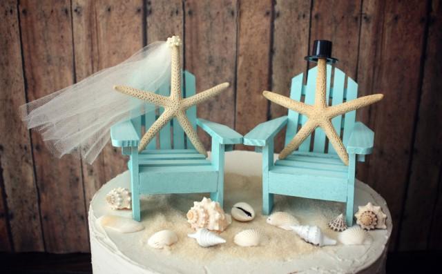 Miniature Beach Chair Cake Topper