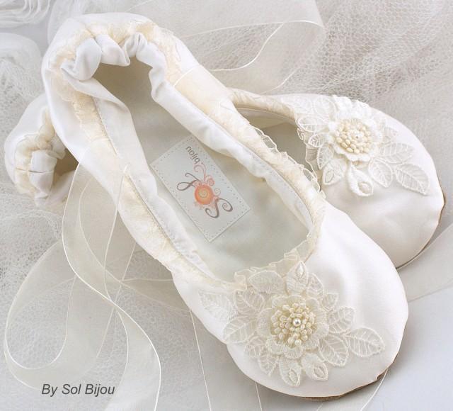 childrens ivory ballet pumps