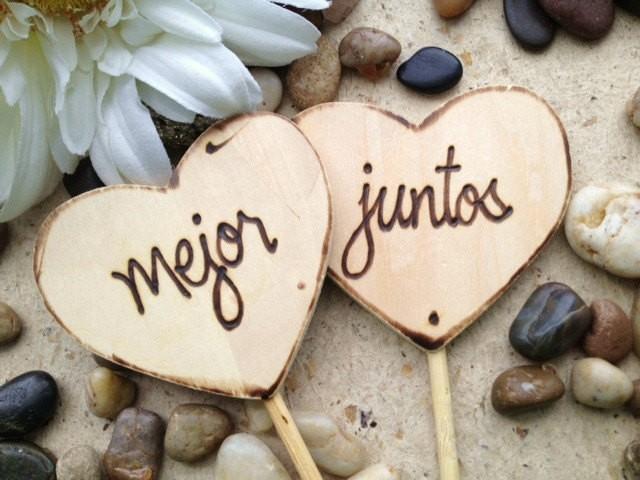 Matrimonio De Amor : Wedding engagement cake toppers mejor juntos better