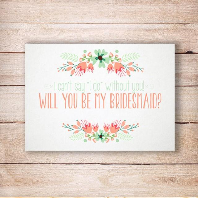 wedding photo - Will you be my bridesmaid, Bridesmaid rustic invitation, Will you be my Maid of honor card, Wedding bridesmaid invite, Printable 5x7