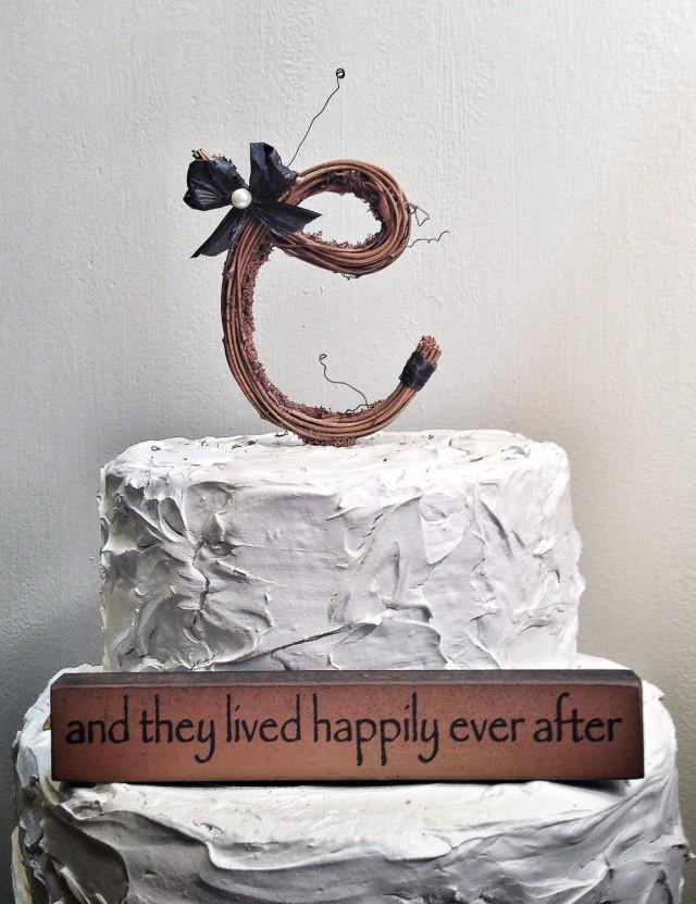 Twig Letter Cake Topper