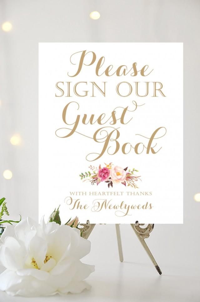It is a picture of Zany Please Sign Our Guestbook Printable