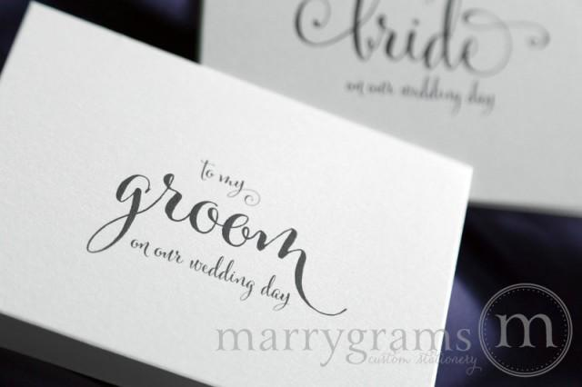 Our) Wedding Day- Groom Gift For Wedding Day - To My Groom Note Card ...