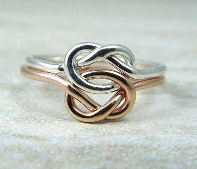 Promise Ring Wedding Ring Rose Gold Filled Love Knot