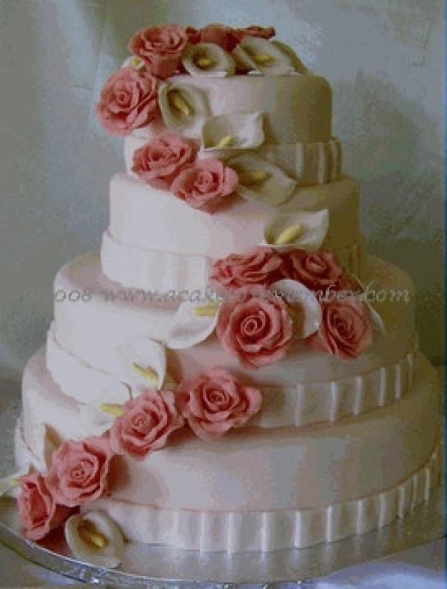 Gumpaste Flower Cascade For Wedding Cake Diy Wedding Cake