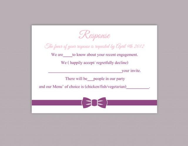Rsvp template online tolgjcmanagementco for Printable rsvp card