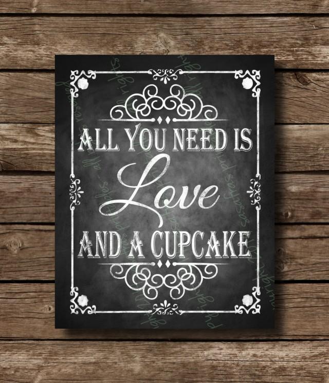Printable Chalkboard Wedding Cupcake Sign Dessert Bar