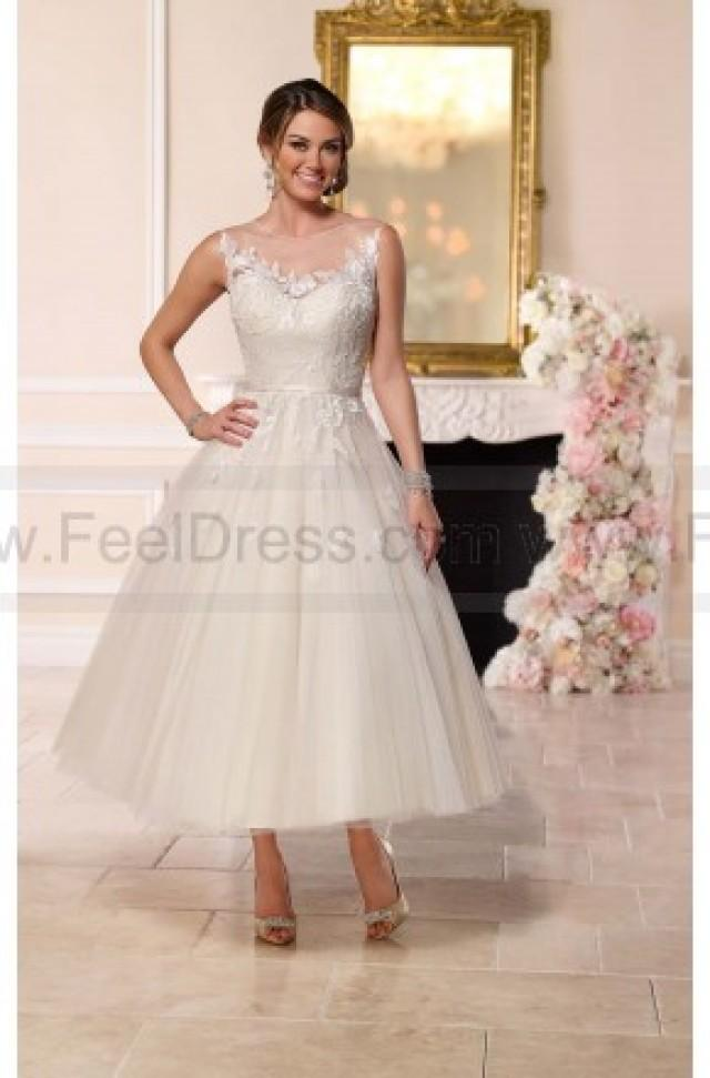 wedding photo - Stella York Tea-Length Tulle Wedding Dress Style 6258