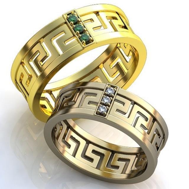 Emerald Diamond Engagement Rings Wedding Ring Set Beautiful