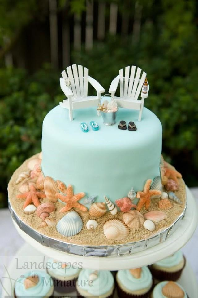The EVERYTHING YOU SEE Set - Beach Theme Wedding Cake ...