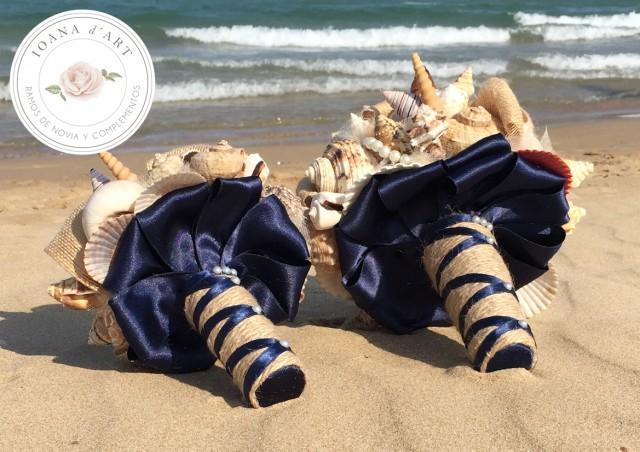 wedding photo - Ramos boda en la playa