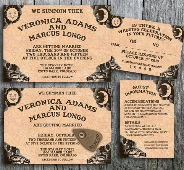 ouija invitation suite for a halloween wedding printable wedding