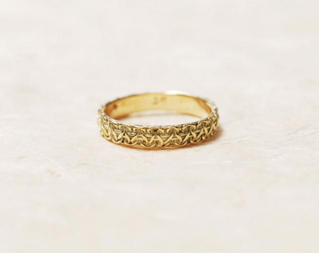 CHRISTMAS SALE Thin Gold Ring 14K Gold Ring Unique Gold Ring Thin Gold Wedding Band