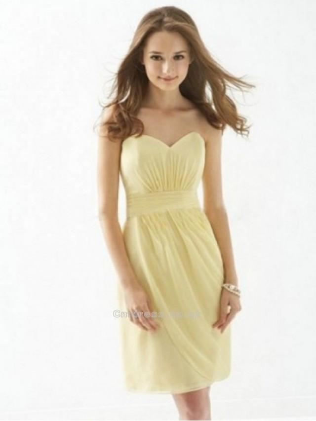 wedding photo - A line Sweetheart Chiffon Bridesmaid DressesSKU: BM000094