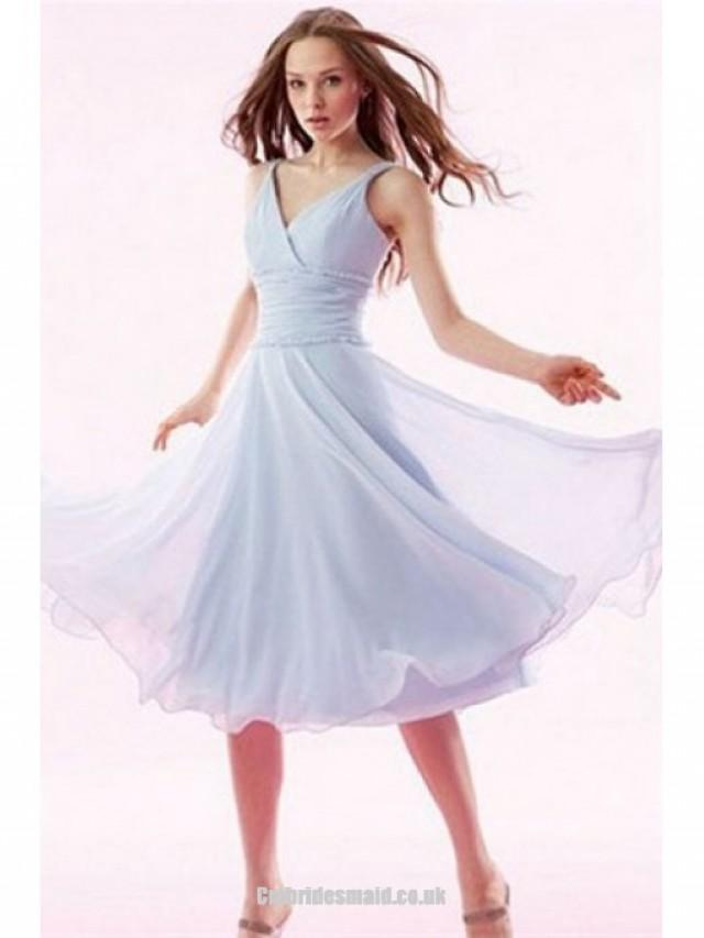 wedding photo - 2013 sweet bridesmaid dresses Knee-Length Chiffon One Shoulder Petite Uk Bridesmaid Dress