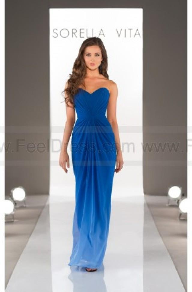 wedding photo - Sorella Vita Bridesmaid Dress In Ombre Style 8514OM