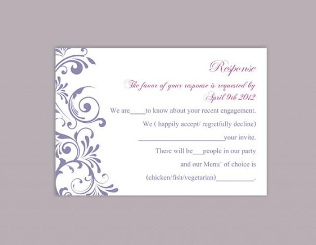 Diy wedding rsvp template editable word file instant for Rsvp cards for weddings templates