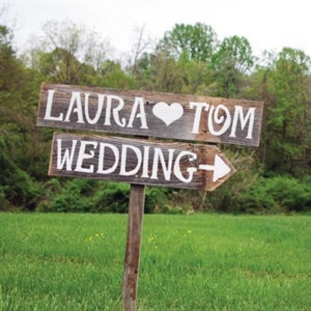 Rustic Wedding Signs Personalized Romantic Outdoor Weddings Hand Painted Reclaimed Wood Rustic