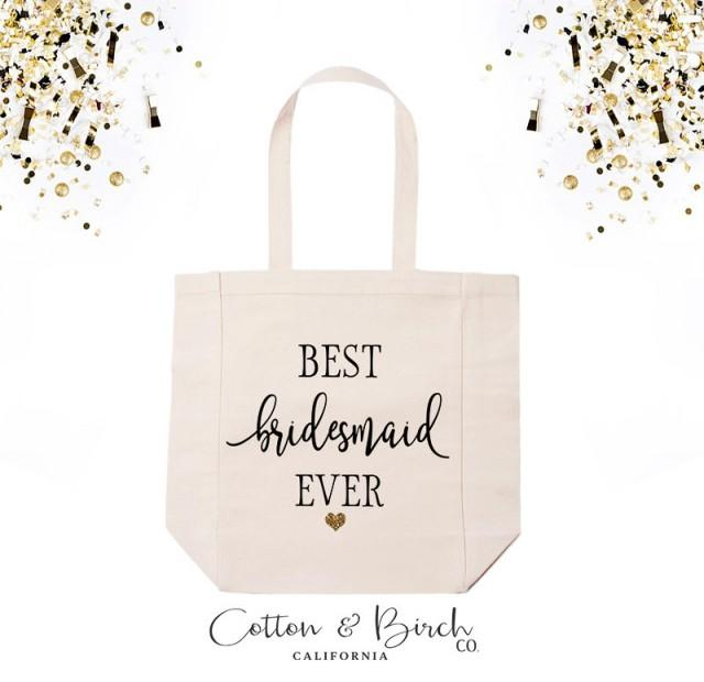 best bridesmaid ever tote bag bridesmaid tote bag wedding tote bridal party gifts. Black Bedroom Furniture Sets. Home Design Ideas