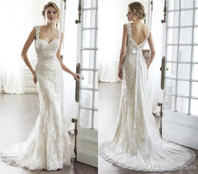 new 2016 sweetheart backless sheath wedding dresses