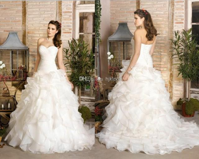 2014 New Strapless Sweetheart A Line Plus Size Sexy Lace
