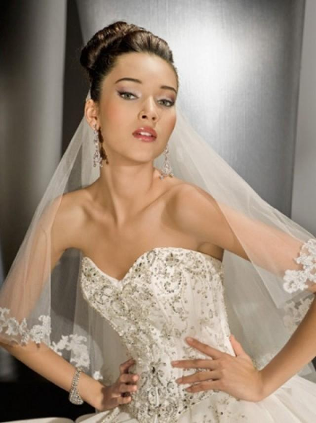 wedding photo - Sparkling Tulle Strapless Classic Beaded Ball Gown Wedding Dress with Semi-cathedral Train