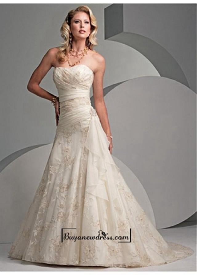 wedding photo - Beautiful Elegant Exquisite A-line Strapless Wedding Dress In Great Handwork