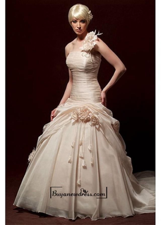 wedding photo - Beautiful Elegant Exquisite Organza A-line Wedding Dress In Great Handwork