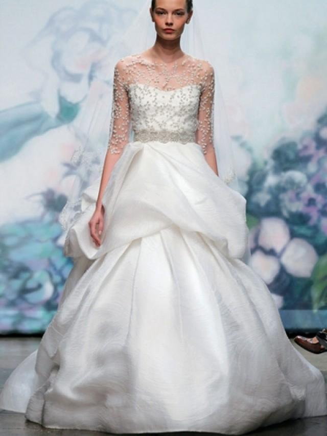 wedding photo - Luxury White Organza Strapless Sweetheart Neck Wedding Dress with Ball Gown Skirt