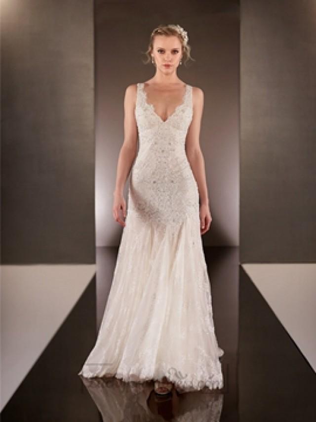 Elegant Wedding Dress Open Back : Neck lace wedding dresses with square open back weddbook
