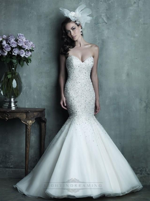 Strapless Sweetheart Beaded Bodice Mermaid Wedding Dress #2443340 ...