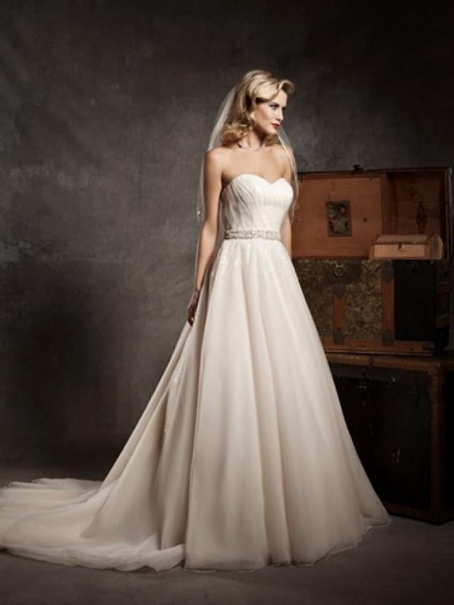 Champagne Ivory Strapless Sweetheart Exclusive Wedding