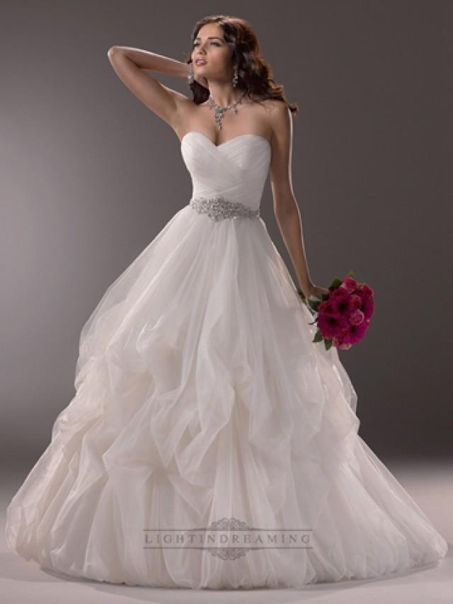 wedding photo - Criss-cross Ruched Sweetheart Ball Gown Wedding Dress