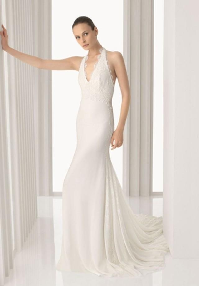 wedding photo - Chiffon V-neck A-line Sexy Wedding Dress