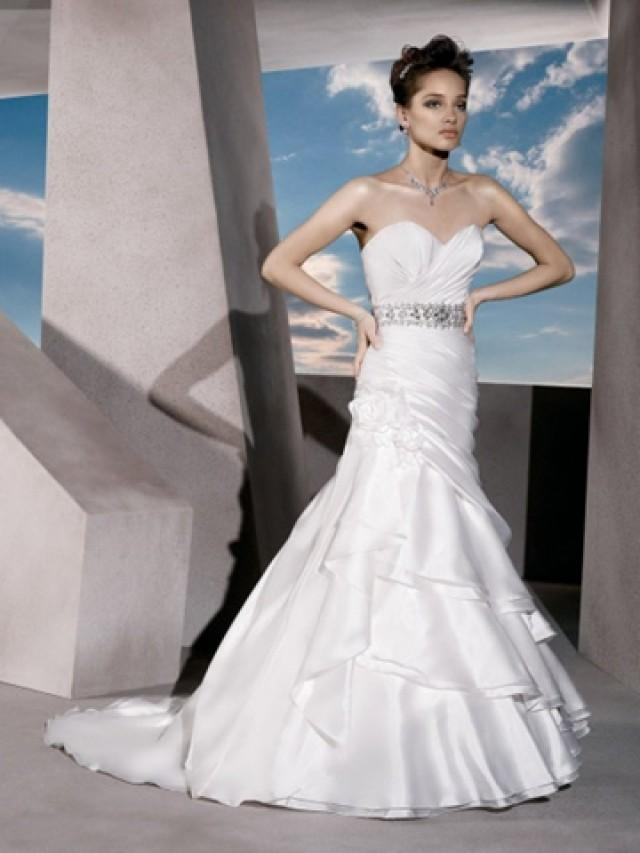 wedding photo - Taffeta Flower Wedding Dress with Sweetheart Neckline and Lace-up Back