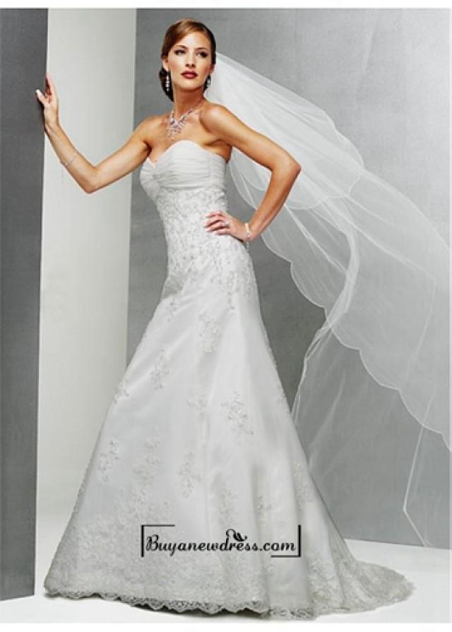 wedding photo - A Romantic Satin A-line Sweetheart Neck Wedding Dress