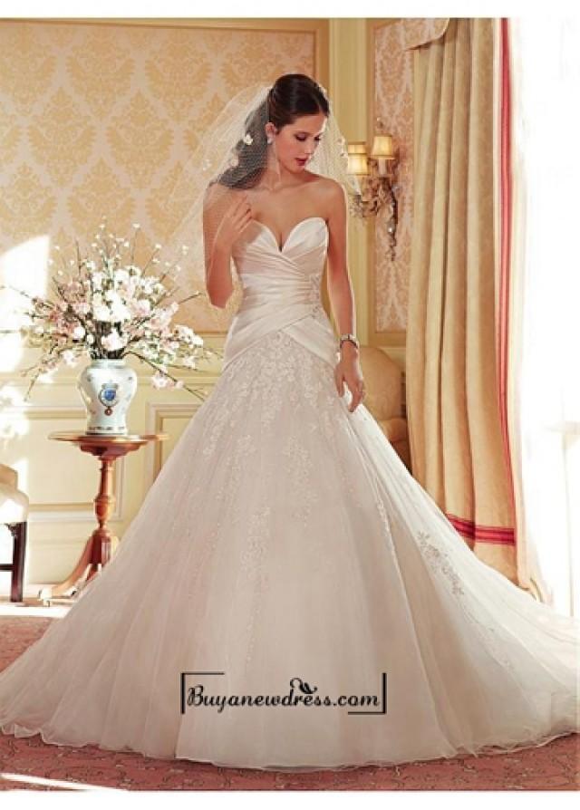 wedding photo - Alluring Organza & Tulle & Satin Sweetheart Neckline Natural Waistline Ball Gown Wedding Dress