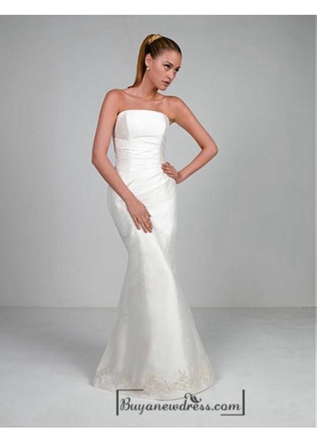 wedding photo - Beautiful Elegant Exquisite Taffeta Mermaid Wedding Dress In Great Handwork