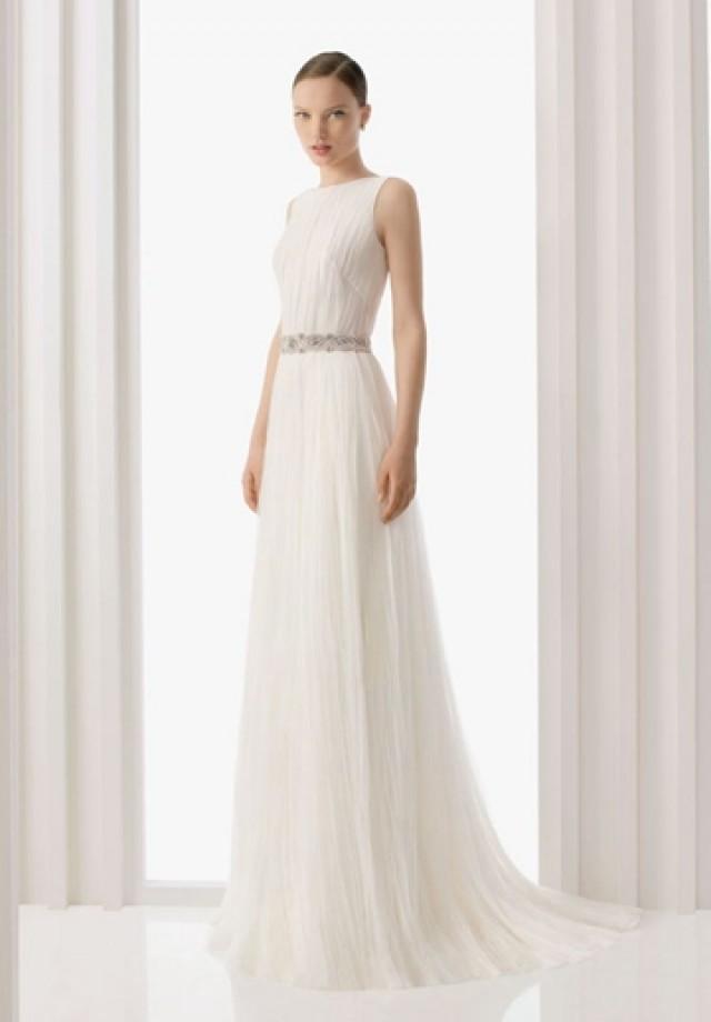 wedding photo - Organza Jewel Column Elegant Wedding Dress
