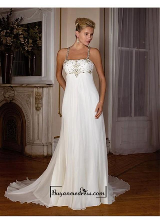 wedding photo - Beautiful Elegant Exquisite Chiffon Wedding Dress In Great Handwork