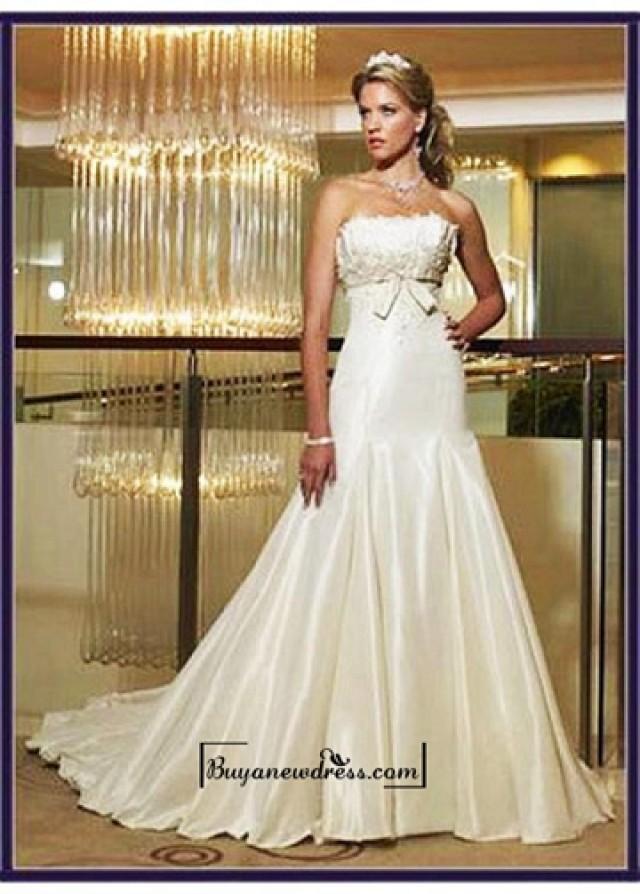 wedding photo - Beautiful Elegant Divine Satin Mermaid/trumpet Strapless Wedding Dress In Great Handwork
