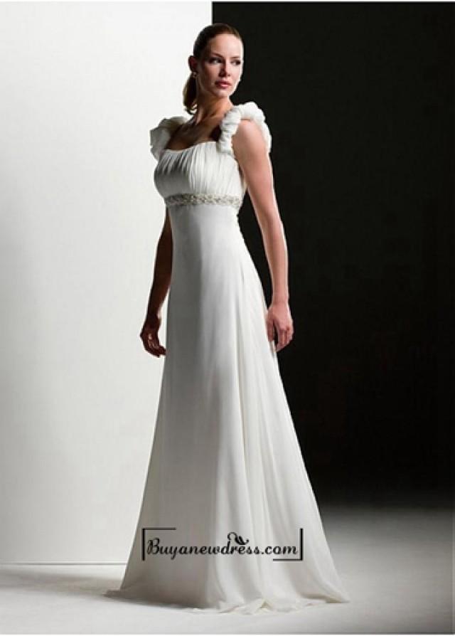 wedding photo - Beautiful Elegant Exquisite A-line Chiffon Wedding Dress In Great Handwork