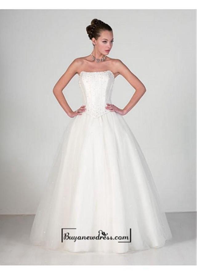wedding photo - Beautiful Elegant Exquisite Satin A-line Wedding Dress In Great Handwork