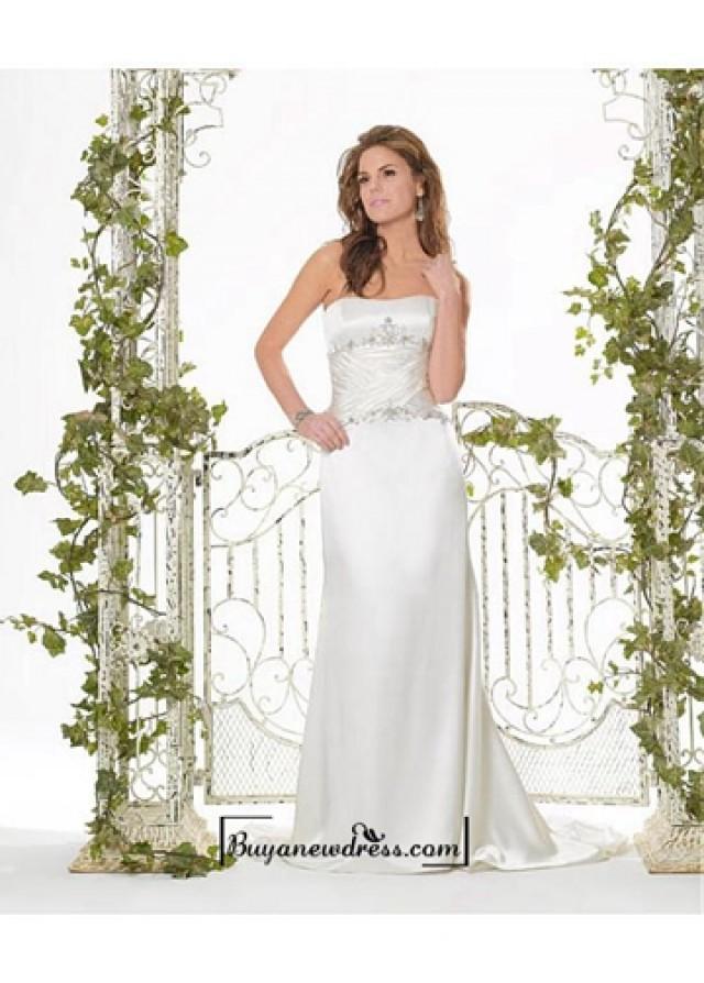 wedding photo - Beautiful Elegant Exquisite Satin Sheath Wedding Dress In Great Handwork